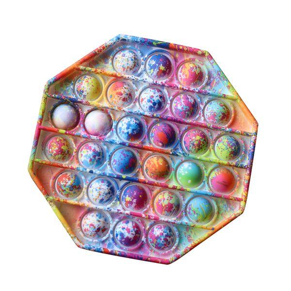 2021 New Push Pop Pop Bubble Sensory Fidget Toys Silicone Stress Reliever Toy Squeeze Toy Pop It Fidget Toy