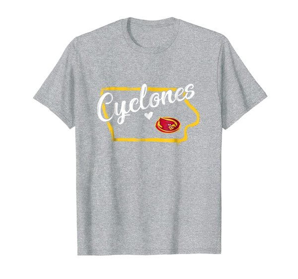 Iowa State Cyclones Drawing State Outline T-Shirt - Apparel