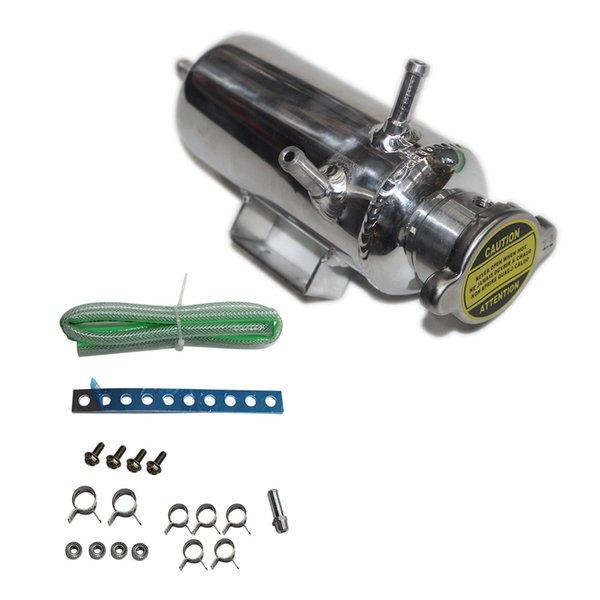 best selling Auto Overflow Catch Can Water Pump Water Cooler Tank Coolant Reservoir Bottle Kit Car SUV Aluminum 350ML