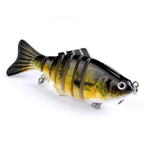 Fishing Lures 1pcs/Winter gear Bionic Multi-section Swim hard bait10cm/15.5g Artificial Wobbler Rotating Trolling pike carp crank lure