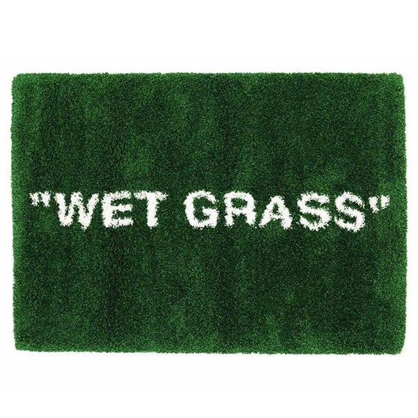 top popular IK Carpet WET GRASS Green MARKERAD Markrad Grasses CarpetS Rug Floor Mat Door Mats Crawling Blanket High-quality Express 2021