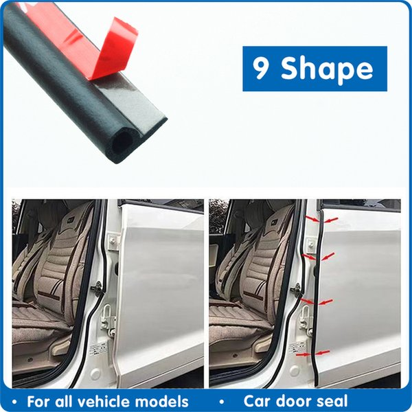 utomobiles & Motorcycles 9 Type Door Sealing Strip Car Rubber Seal Sound Insulation Adhesive Weatherstrip Edge For Car Insulation Seals ...