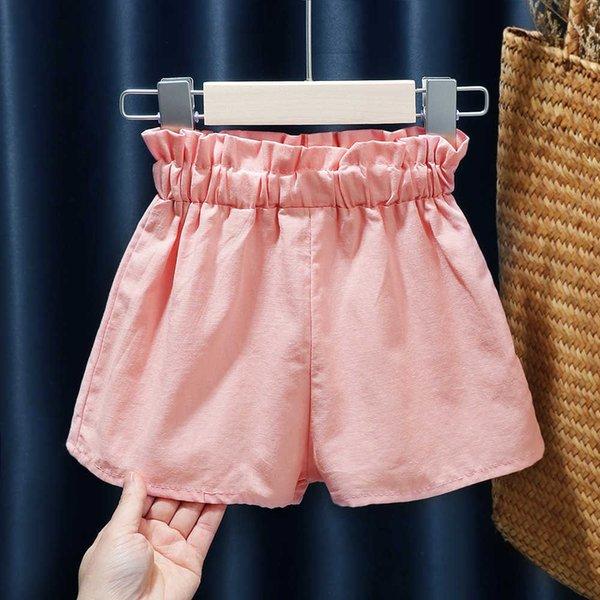 top popular 2021 Summer New Shorts Korean Style Children's Wide Leg Loose Girls' Leisure Bract Pants 2021