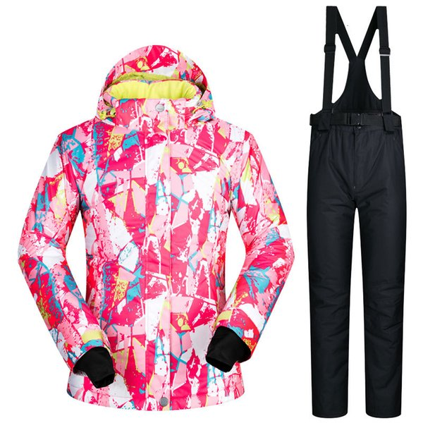 best selling Snow Jackets Women Ski Suit Set Jacket and Pants Underwear Outdoor Skiing Set Windproof Waterproof Therma Ski Snowboard
