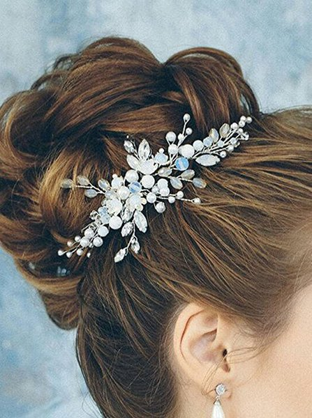 Beautiful Bridal Headband Wedding Dress Hair Accessories Elegant Women Crystal Pearl Jewelry Bride Headdress Ornaments