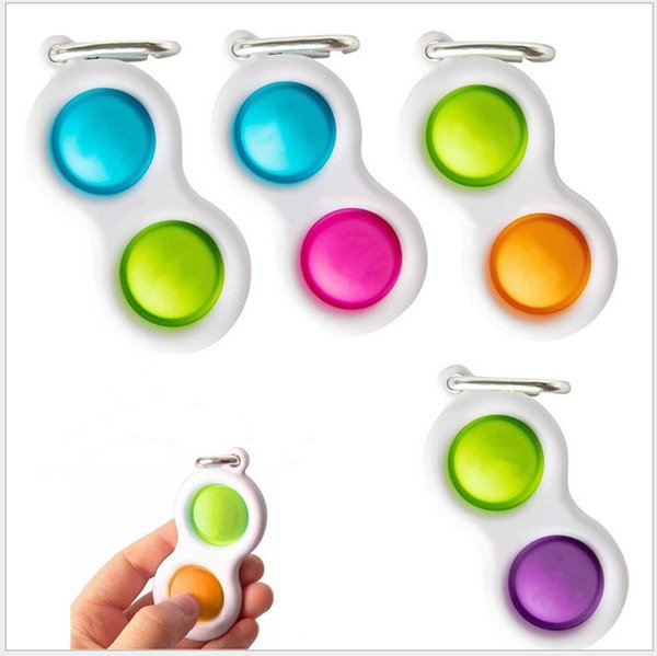 top popular Push Bubble Keychain Kids Party Novel Fidget Keychains Simple Dimple Toy Pop Toys Key Holder Rings Bag Pendants Decompression Gifts 2021