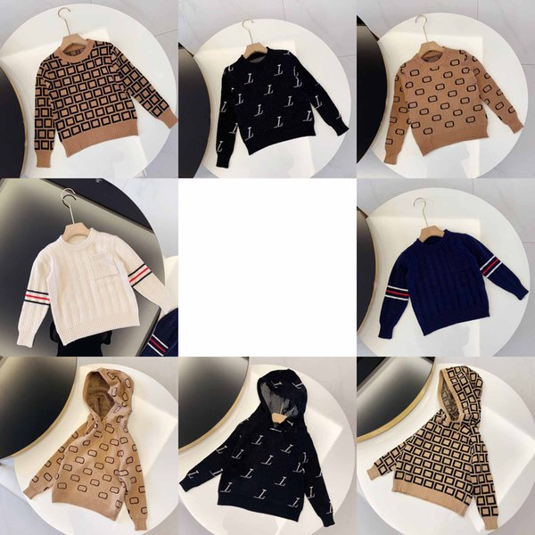best selling Kids Fashion Sweaters Boys Girls Unisex Baby Pullover Autumn Winter Sweatshirts Children Keep Warm Letter Printed Sweater Jumper Clothing 8 Styles