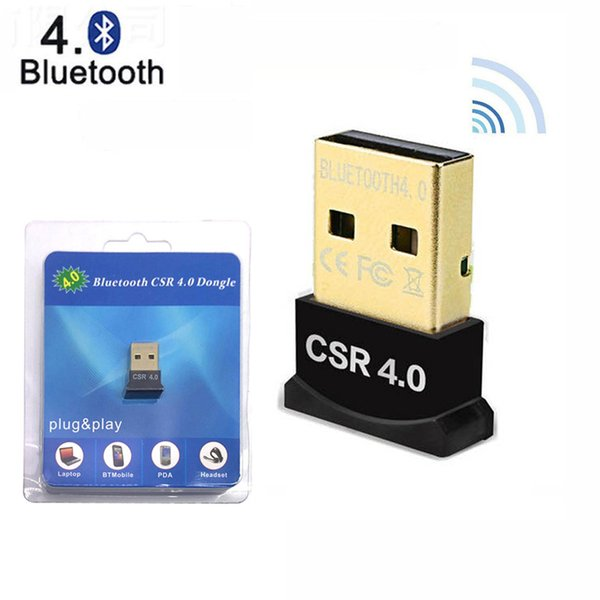 best selling CSR 4.0 Bluetooth adapters USB Dongle Receiver PC Laptop Computer Audio Wireless transceiver Support multi devices