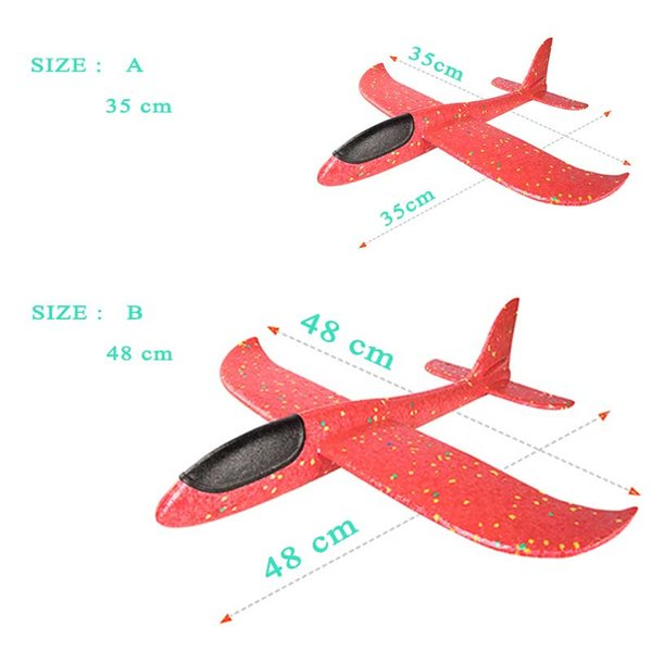 Childrens toys hand throw foam airplane toys childrens airplane model toys outdoor gliders childrens gifts