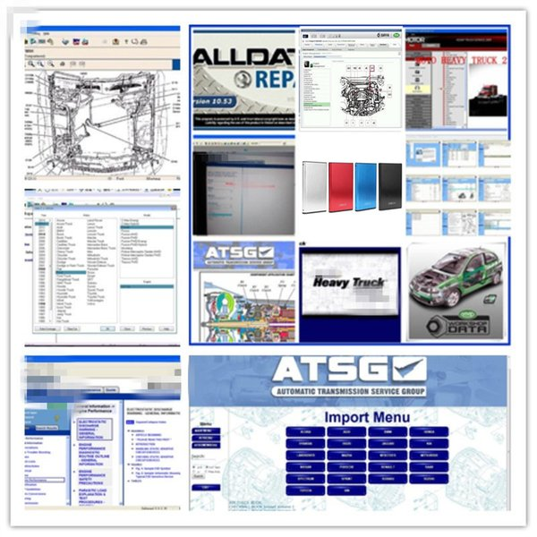 best selling 2021 hot Alldata Auto Repair Software All data v10.53 Mi-tchell 2015 vivid workshop 10.2 heavy truck and ATSG 2017 in 1TB HDD USB 3.0 for cars & trucks diagnostic