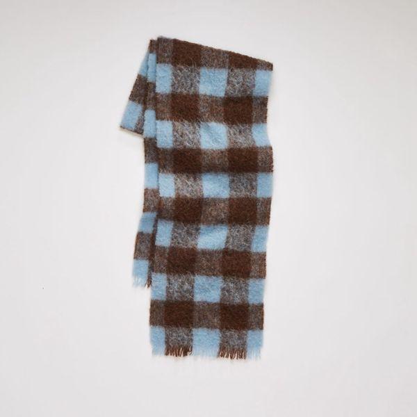 Blue Brown Lattice-35x210cm