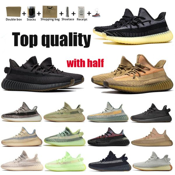 best selling Kanye West Running Shoes Men Women Tail light Static reflective Oreo Desert Sage Earth Linen Stati Asriel Zebra Trainers Sneakers 36-48 Half Size invogoes