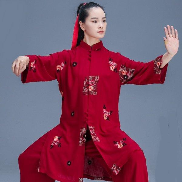Tai Chi Clothing Set Traditional Chinese Clothing Women Wushu Clothing Kung Fu Uniform Suit Martial Arts Uniform Exercise 12459 Apparel Ethnic Clothing DIY Clothing Mens Clothing Womens Clothing