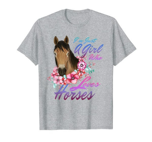 Just A Girl Who Loves Horses Shirt Horse Lover Gift Women T-Shirt