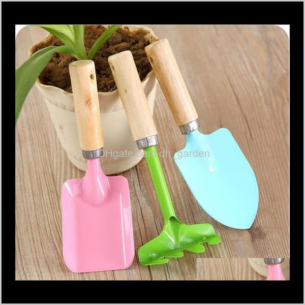 top popular Tools Home & Drop Delivery 2021 Colorful Rake Garden Plant Tool Set Children Small Harrow Spade Shovel Gardening Kids Toy Sn2358 7Nkvq 2021