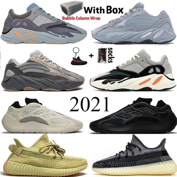2021 Reflective 700 Hospital Blue Wave Runner Kanye West Runing Shoes Alvah Asriel Israfil ABEZ V2 Mens Trainer Women Designer Sneakers US 13