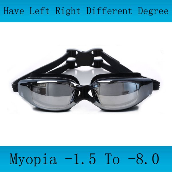 best selling Adults Swimming goggles Myopia Men silicon Swimming glasses optical anti fog adjustable swim eyewear Professional water glasses