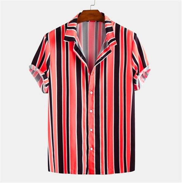 Shirts Striped Printed Single Breasted Turn Collar Short Sleeve Tops Casual Mens Clothing Summer Mens Designer Fashion Mens Clothing Women Clothing Mens Jeans Pants Hoodies Hiphop ,Women Dress ,Suits Tracksuits,Ladies Tracksuits Welcome to our Store