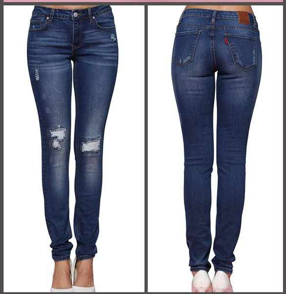 Fashion Jeans for Women Fashion High Waisted Jeans with Holes