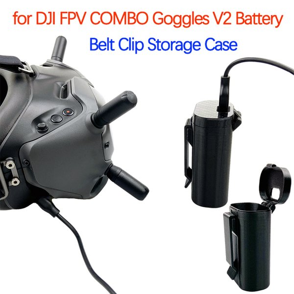Wholesale heap FPV Goggles For DJI FPV COMBO Goggles V2 Battery Belt Clip Storage Case Flying Glasses Headband Buckle Protective Shell Drone Acces...