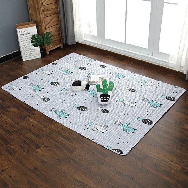 best selling Cotton Quilted Children Crawling Developing Mats Kids Rug Puzzle Kids Game Pad Toys Home Decor Carpet Tatami Rug