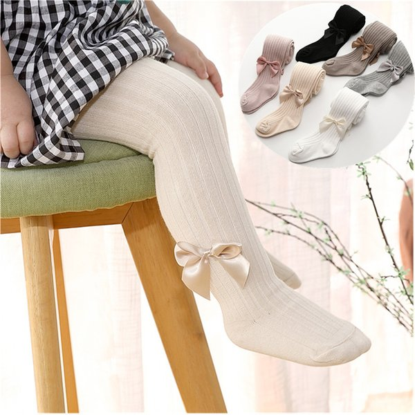 best selling Cotton Tights Princess Bowknet Baby Girl's One-Piece Pantyhose Baby Spring and Autumn New Style Trousers Lace Stocking