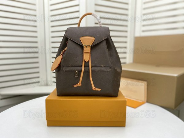 best selling Mini MONTSOURIS PM BB Women Backpacks With Buckle Drawstring Cowhide Leather Letter Flower Backpack Embossed Mens Purses Wallets Pattern Bag M45501 M45515 M45410
