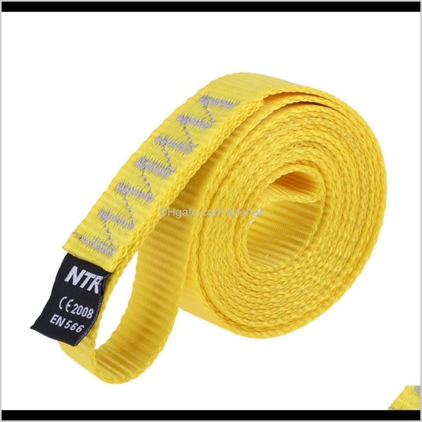 best selling Harnesses Camping Hiking & Outdoors Drop Delivery 2021 Rock Climbing Sling Loop Fall Protection Descending Nylon Webbing Strap 35Kn For Outdo