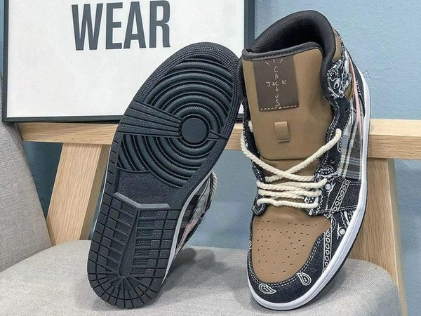 High quality new 1 skateboard running shoes men's and women's designer sports shoes cactus Jack basketball shoes
