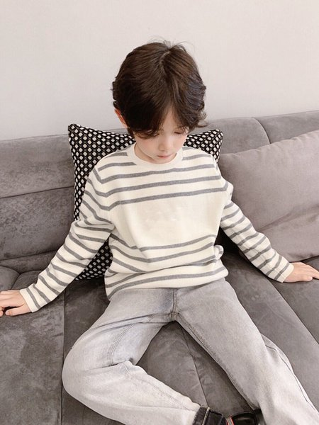 top popular Kids Boys pullovers 2021 Autumn Winter Knitted Cotton Toddler Clothing girls Cardigan Sweater For children 2-12 Years Outerwear Coat 2021