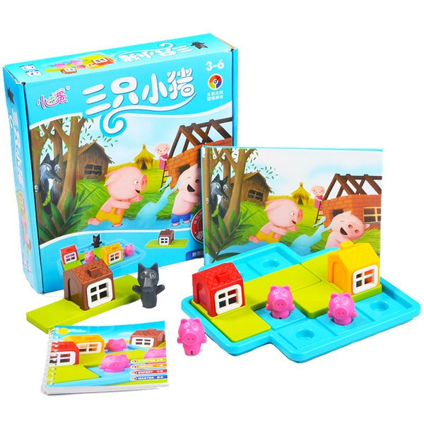 top popular Funny Smart Hide&Seek Board Games Three Little Piggies 48 Challenge with Solution Games IQ Training Toys for Children Gifts 2021