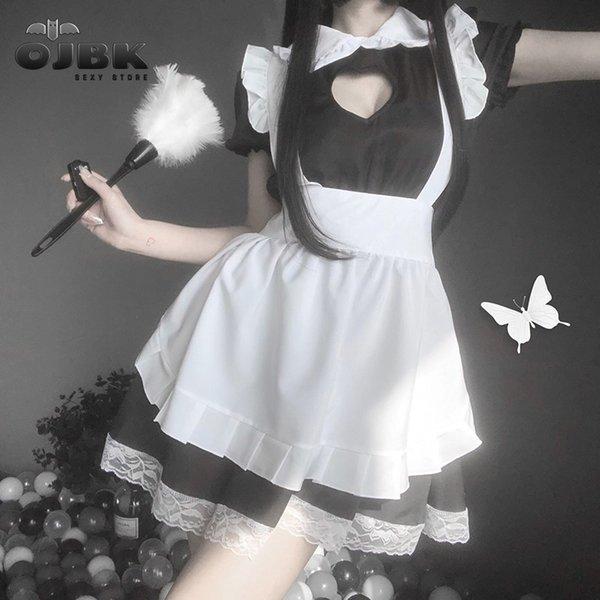 OJBK New Sexy Sweet Lolita Dress Japanese Maid Costume Anime Cosplay Kawaii Coffee Bar Uniform Halloween Outfit For Women New