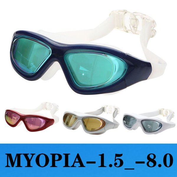 best selling Myopia Swimming Glasses Men Women Anti Fog Adult silicone Adjustable Waterproof Pool Diopter Swim Eyewear Swimming Goggles