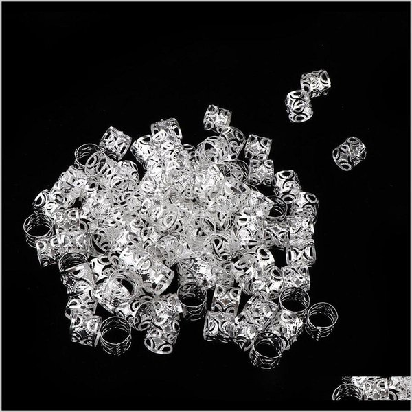 top popular Sprays Care & Styling Tools Products Drop Delivery 2021 100Pcs Dreadlocks Beads Diy Style Hair Decoration Braid Rings Hoops I8Hib 2021