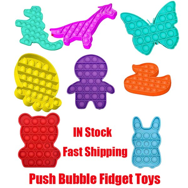top popular Push Bubble POP Fidget Toys Autism Special Needs Stress Reliever Helps Relieve Stress and Increase Focus Soft Squeeze Decompression Toy 2021