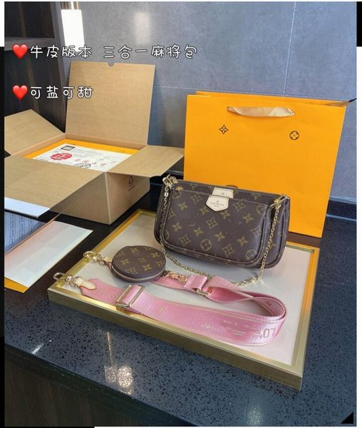 "best selling LV…""Louis…Bag""Vitton""multi pochette Cross body bag Shoulder Bags women fashion luxury designers Messenger Bag"