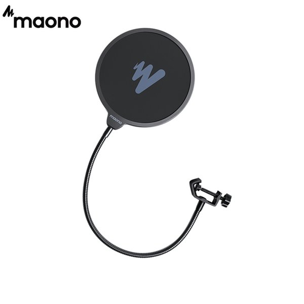 Cheap Microphones MAONO Microphone Pop Filter Metal Pop Filter Shield Double Layer Windscreen Popfilter For USB Microhone Podcast Microphone