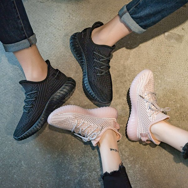 Casual shoes Couple's flying shoes 2021 spring and summer new breathable Student Korean sports men's women's Casual X94G
