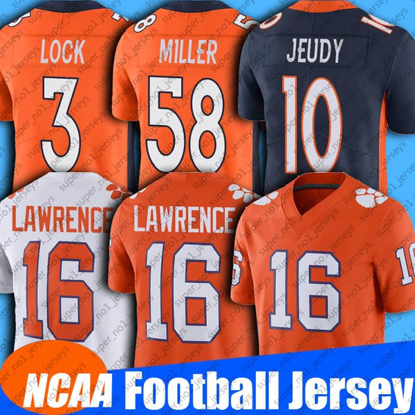 top popular 3 Drew Lock 58 Von Miller Jersey NCAA College Football 10 Jerry Jeudy Jerseys 14 Courtland Sutton 87 Noah Fant Jerseys 55 Bradley Chubb 2021