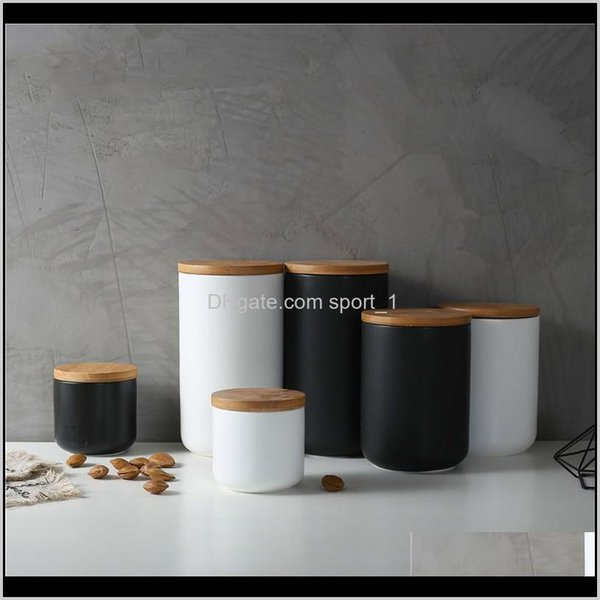 best selling Bottles Jars Aents Décor Home & Garden Drop Delivery 2021 260Ml 800Ml 1000Ml Sealed Ceramic Storage Jar Spices Tank Container For Eating With