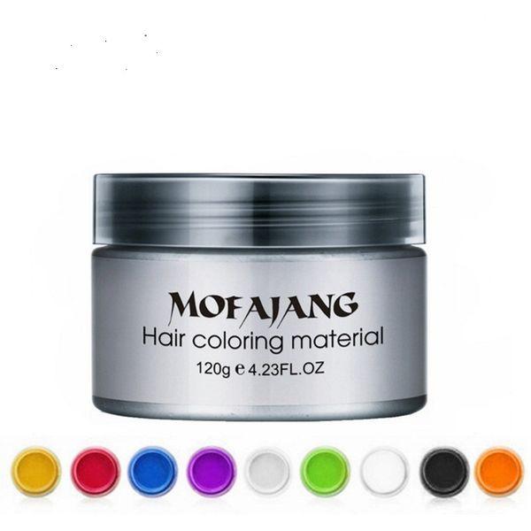 top popular Mofajang hair wax styling Pomade Strong style restoring big skeleton slicked 9 colors 2021