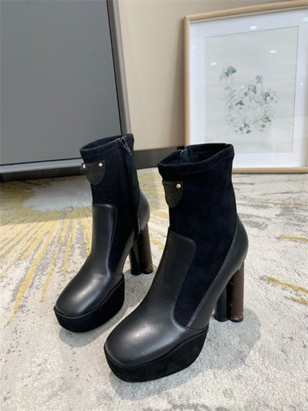 Luxury Designed Cate Boots For Women,Ladies Sole Ankle Boots Chains Paltform Heels Boot Winter Brand Boot 34-42