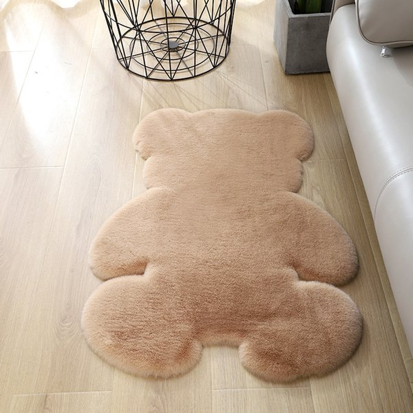 best selling Bear rug super soft silk carpet Indoor Modern Living room bedroom Rug Antiskid soft 60cm *80cm mat gray brown children