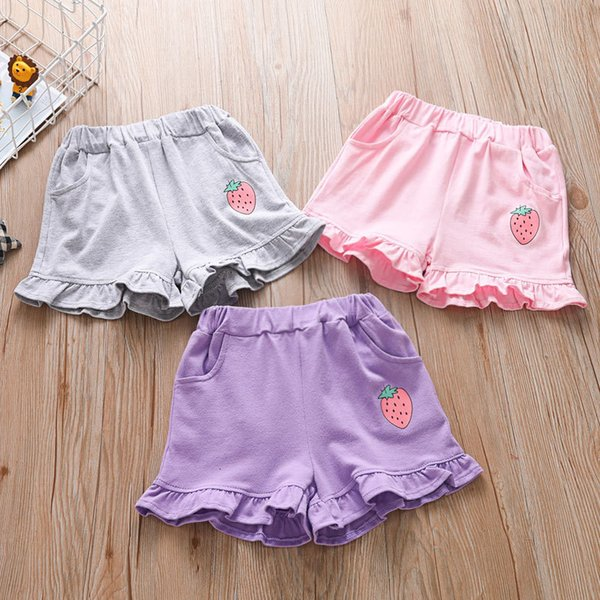 best selling 2021 Casual Shorts Pure Cotton Girls' Summer Outer Thin Children's Beach Pants