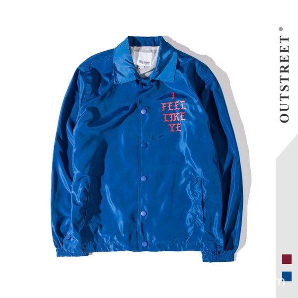 Fashion Trench Coat Coconut #kanye# Kanye # Coach Jacket Jujube Brand Windbreaker High Street Dark Men and Women
