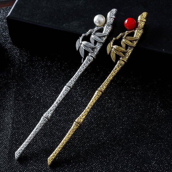 Vintage Hair Stick Chinese Style Simulated Pearls Hairpin Women Banquet Party Hair Pin Accessories Best Gift Jewelry