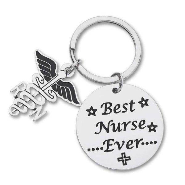 10Pieces/Lot New Nurse Appreciate Gifts Keychain for Nurse Women Men Girls Birthday Nurse Week Gift Nursing School Graduation Gift Key Ring