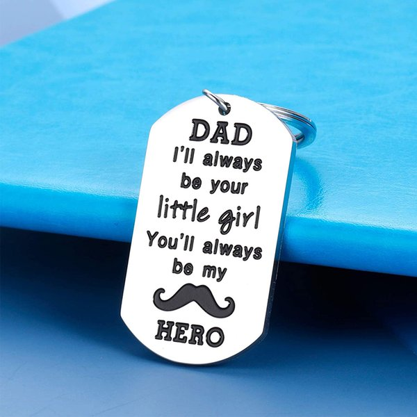 10Pieces/Lot Dad Keychain Gift for Father Dad Daddy Papa Stepdad Father in Law Fathers Day Gift Birthday Present from Daughter to Dad Him