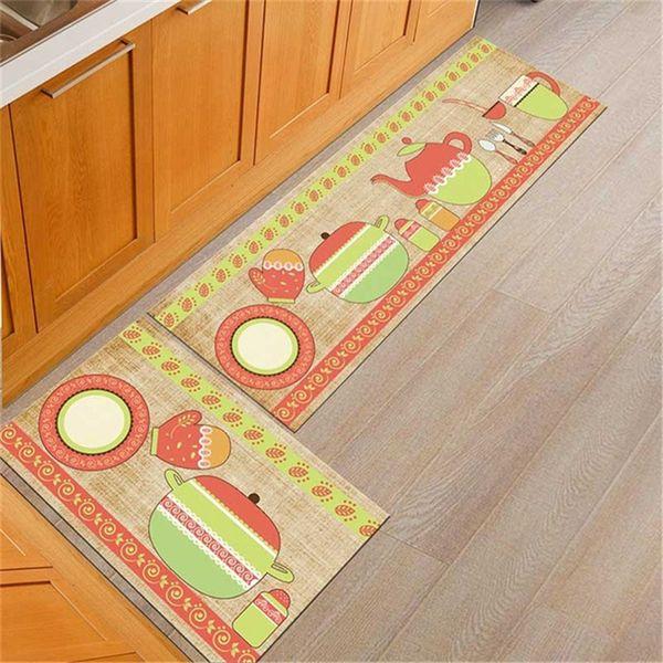 Eovna Kitchen Mat Anti-slip Modern Area Rugs Living Room Balcony Bathroom Printed Carpet Doormat Hallway Geometric Bath Mat