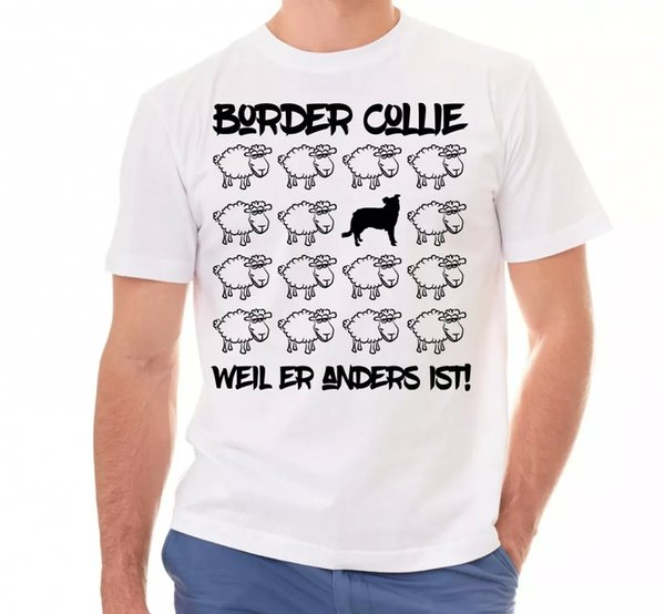 Border Collie Unisex T-Shirt Black Sheep Men Dog Dogs Motif Sheepdog